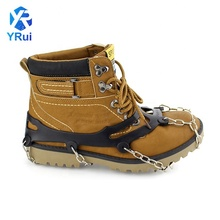 Wholesale XL ten teeth Silicone crampons non-slip ice shoe covers <strong>Safety</strong> Outdoor