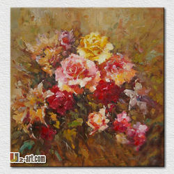 Wall pictures classical flower art paintings for living room