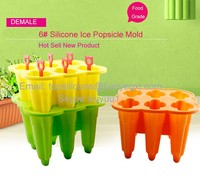 Flexible Durable Silicone Popsicle Mold Snack Cup Ice Pop Mold Ice Cream Mold with Stick