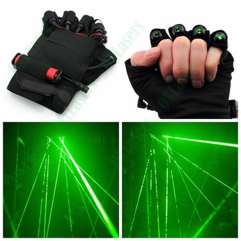 OXLasers DIY GREEN laser gloves with 4 lasers and STROBE LED Palm Light