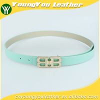 Wholesale Alloy Buckles PU Leather fashion dress girl belt in Yiwu