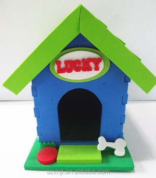 foam plastic dog house toy