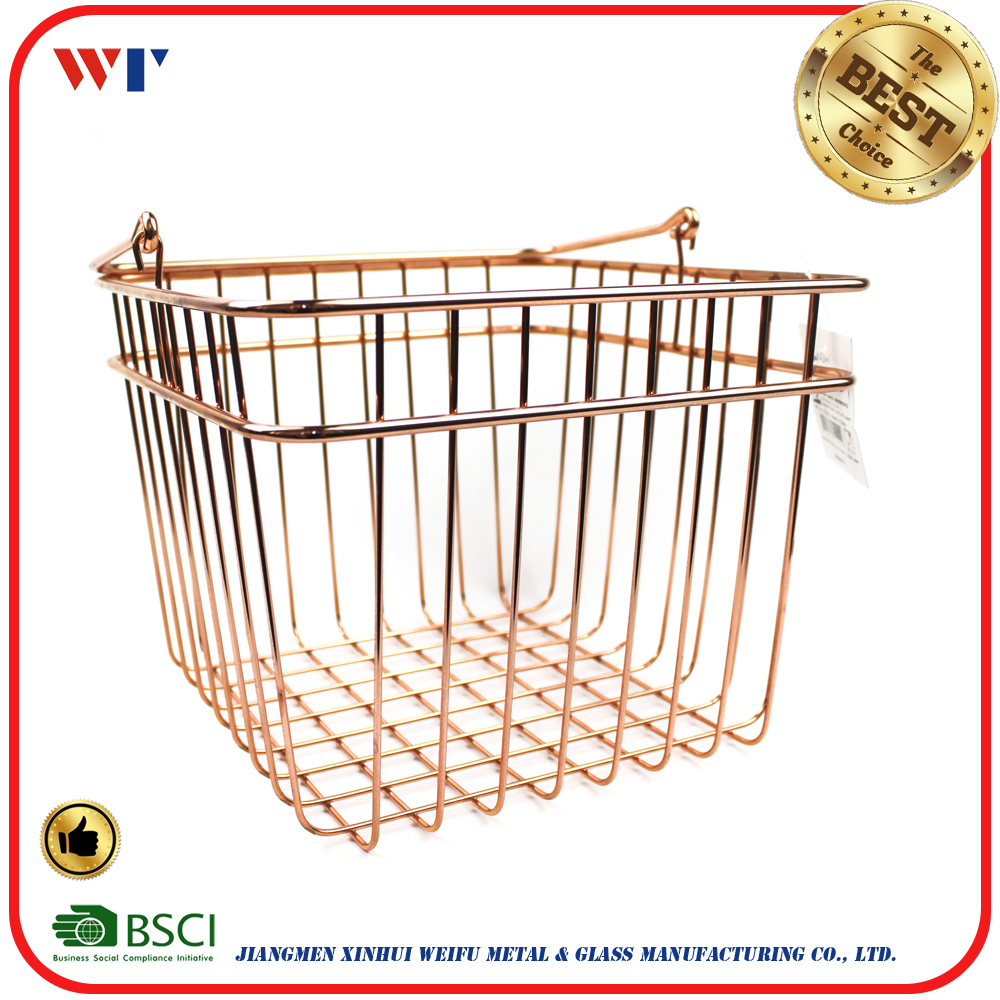 rose gold stainless steel bread proofing basket