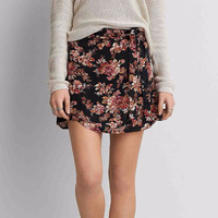 Custom Online Shopping Women Fashion 97% Cotton 3% Elastane Hot Girls Floral Printed Short Mini Skirts