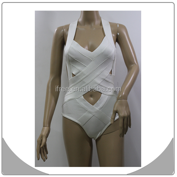 2014 latest fashion hollow out suit,white halter swimsuit