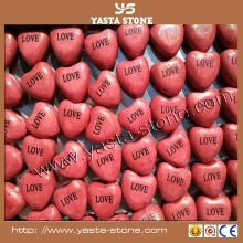 Wholesale Heart shaped stone handcrafts crafts decoration
