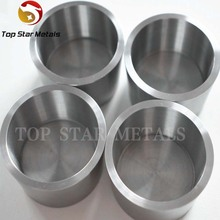 high purity Machined Zr 702 Pure Zirconium Crucibles And Zirconium Cups for sale