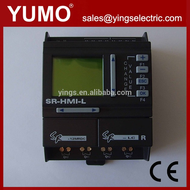 YUMO PLC (SR-12MRDC) DC12 24V 8 points DC input with 6 points analog 4 points relay output Programmable logic controller
