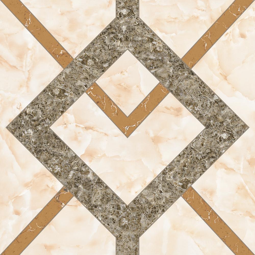 Polished ceramic tiles