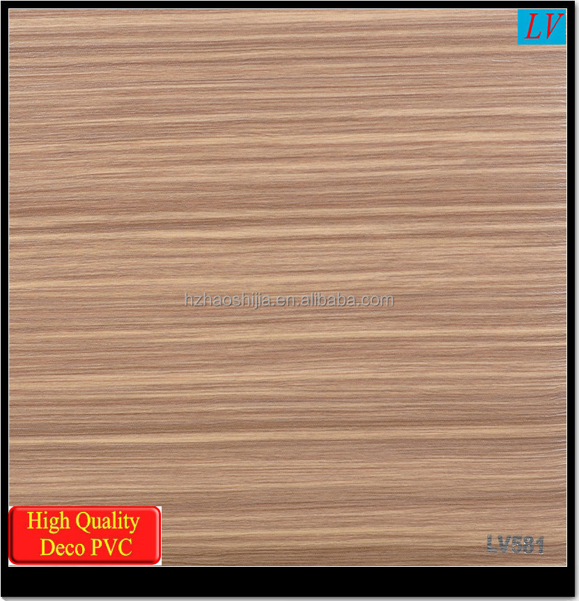 Wood grain PVC decorative sheet with width 1400mm