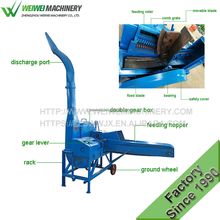 6.5t/h Chaff cutter agricultural farm diesel grass chopper machine animal feed crusher for cutting hay