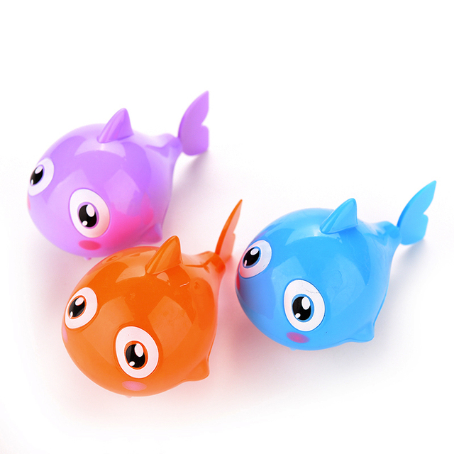 Funny Baby Kids Bath Toy Plastic Clockwork Wind Up Shark Plastic Cute Swimming Shark Pool Bath Toys