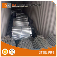 TSX-GP1671623 RHS CHS SHS GALVANIZED steel gi pipe price list for greenhouse