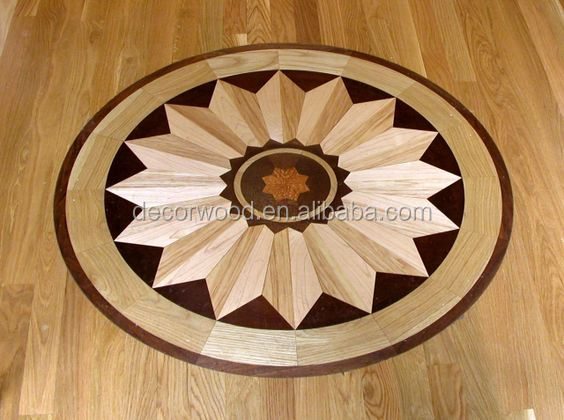 oak and walnut wood medallion parquet