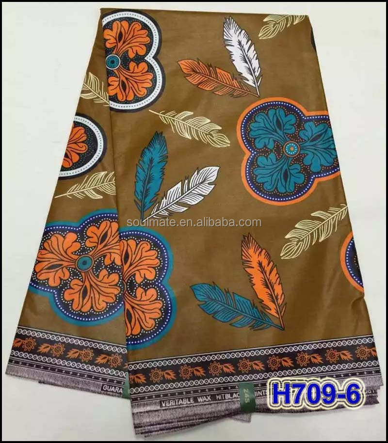 H709-6 First class Ankara block cotton wax printed fabric 2017 latest english wax print fabrics