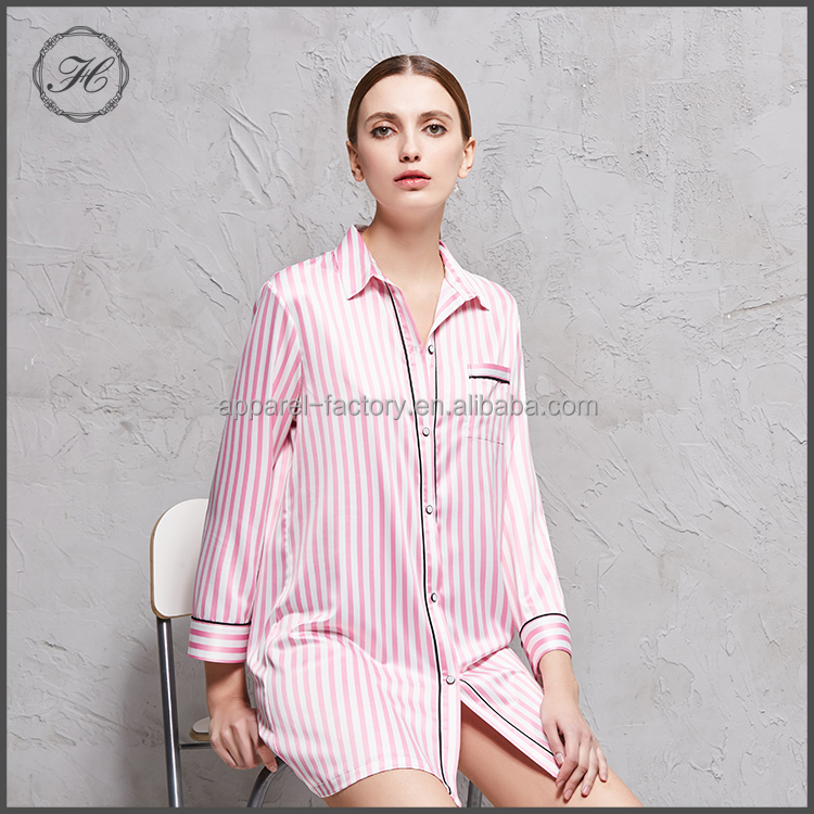 HCY Free Shipping China Fall Girls Silk Pajamas SP017