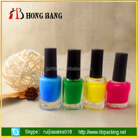 China supplier colored empty glass nail polish bottles