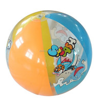 "16"" factory direct seller phthalate free PVC cartoon beach ball"
