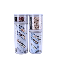 VARYAG Promotional product transparent seal snack candy spice nuts cereal storage plastic cracker canister jars