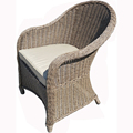 Restaurant Outdoor Round Wicker Rattan dining chair Garden Chairs Outdoor