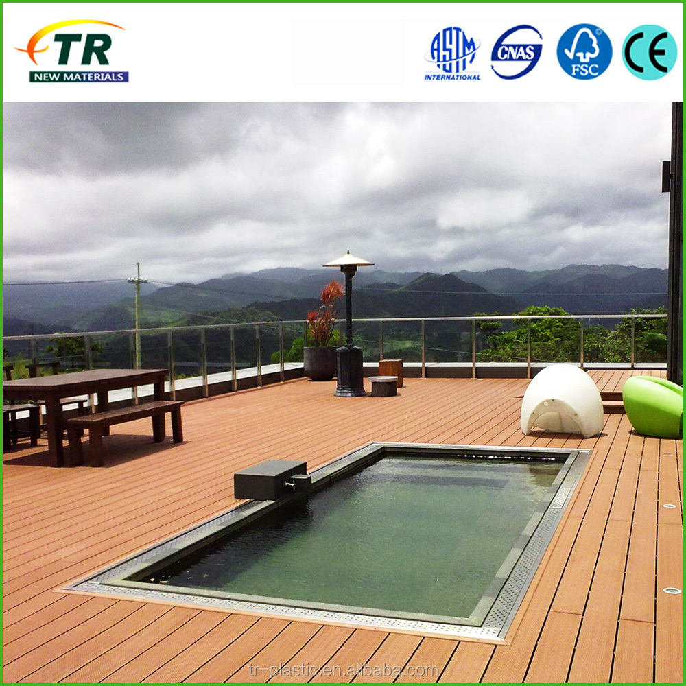 Eco - friendly wood - plastic composite decking