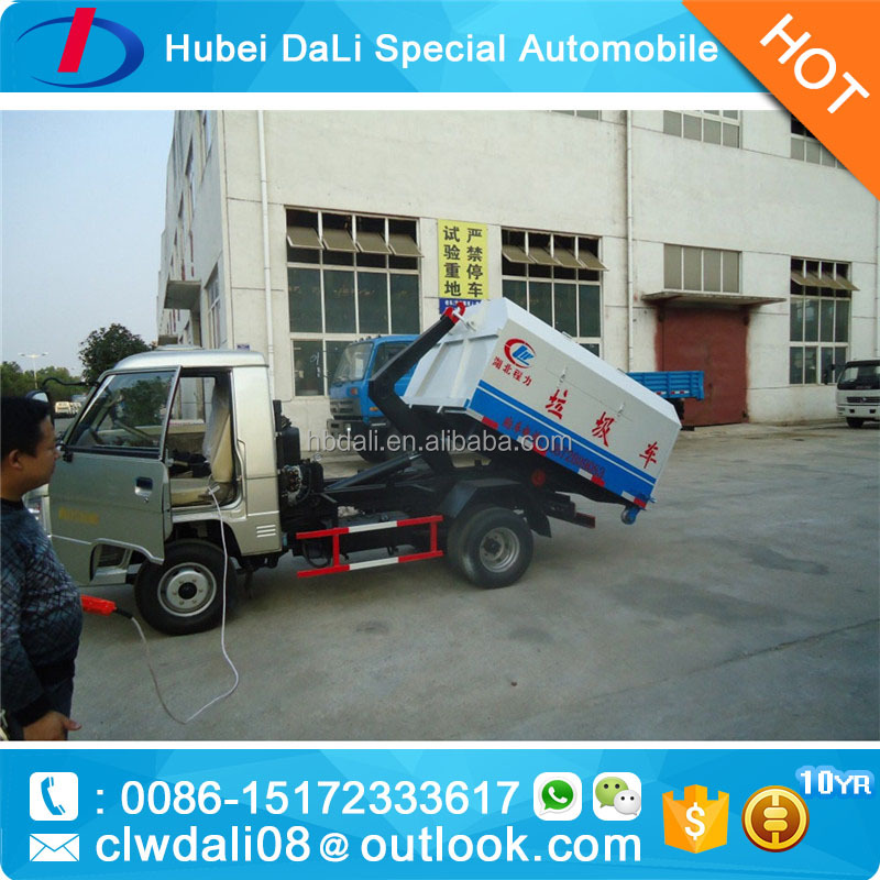 HOT sale!!! Foton mini 3m3 hook lift containers,garbage trucks