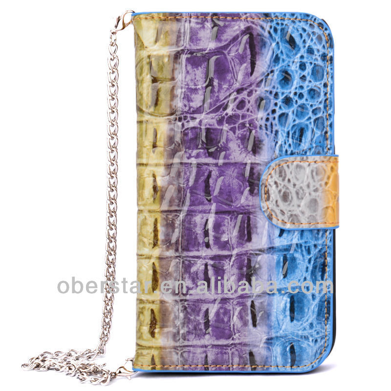 Stylish Color Crocodile Handbag Leather pu handbags For Samsung Galaxy Note 3 N9000 Wallet Holster Flip Cover Case