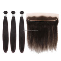 straight wave Brazilian hair free part frontal course weave13x2