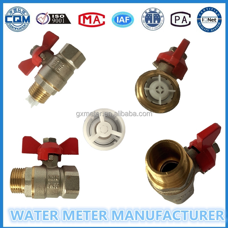 """1/2""-""1""control type ball valves for water meters with brass body"