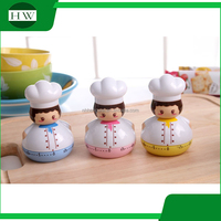 60 minutes cut down sound digital plastic cartoon chef cook shaped kitchen mini mechanical clock timer reminder timing device