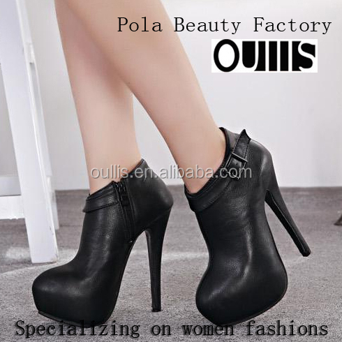 half boots latest designs high heels faction in 2014 PF3178