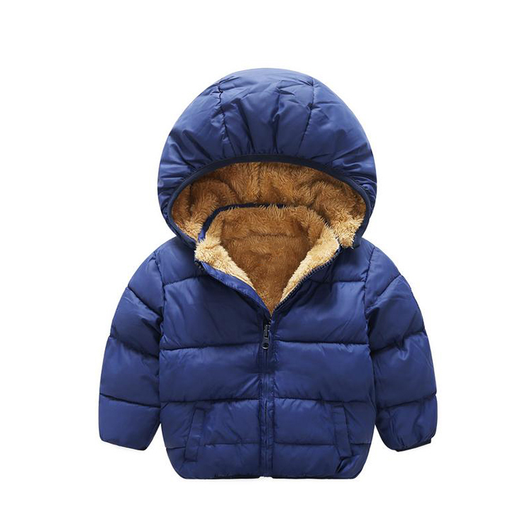 2017 new style pure color warm kids fur jacket coat