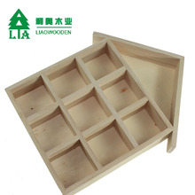 Decorative wooden wall hanging display boxes