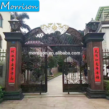 Hot selling good quality new wrought iron pipe gate designs