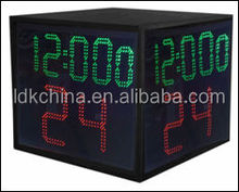 5 Digits Large LED 4 Sided 24 second Shot Clock for basketball