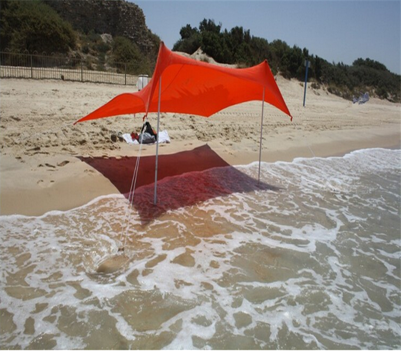 lycra beach shade with sand anchor beach tent with carrying bag and poles