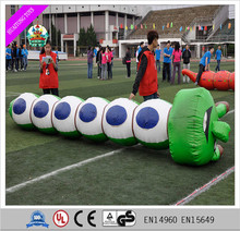 inflatable caterpillar/inflatable sport games for kids and adults