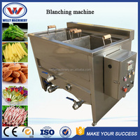 Hot sale factory price stainless steel onions/carrots/mushroom/apple chips blancher machine