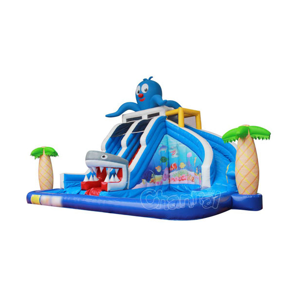 backyard ocean water slide/commercial inflatable water slide with pool for toddlers