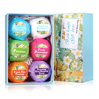 Bath Bombs Gift Set - Organic and Natural Handmade Bath Bombs with Essential Oil
