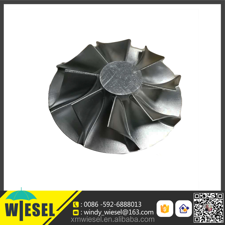 Four-axis aluminum alloy CNC machining die casting impeller with OEM service