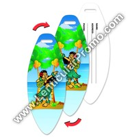 Dancing Hula Hawaiian Girl Lenticular Luggage Tag Surf Board Shaped Travel Bulk Souvenir Gifts Promotional