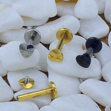 316L Surgical Stainless Steel Internally Threaded Heart Labret Stud Body Piercing Unique Lip Rings