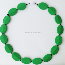 China supplies manufactory Baby teether toy emerald beads necklace jewelry necklace