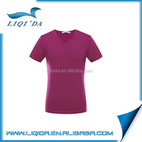 2016 bottom price custom plum blank dri fit v neck t shirts men wholesale