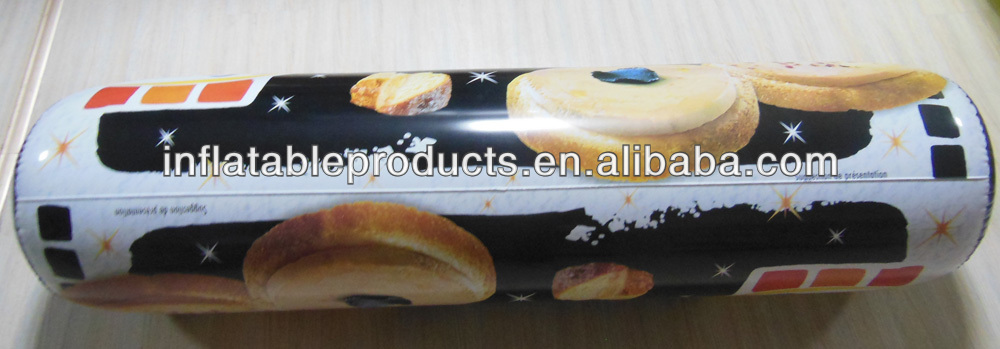 inflatable pvc food package bag display