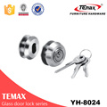 popular circular galvanized glass door lock