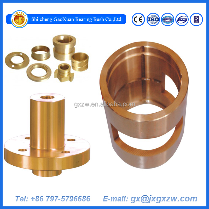 Precision Flanged Copper Brass Bronze Bearing Sleeve