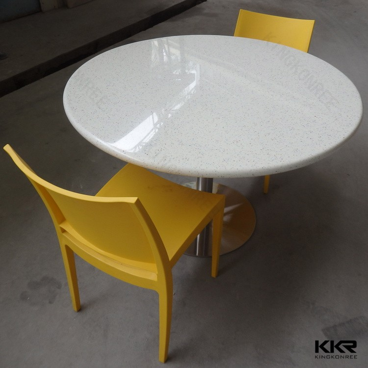 Restaurant modern rectangular marble top dining table