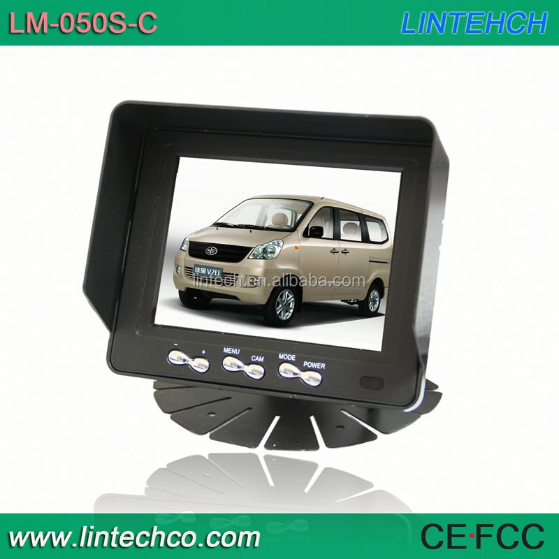 2 video inputs car monitor 5 inch car lcd monitor with rca input